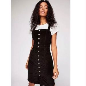 Free People Buttonfront Cord Mini Jumper Dress
